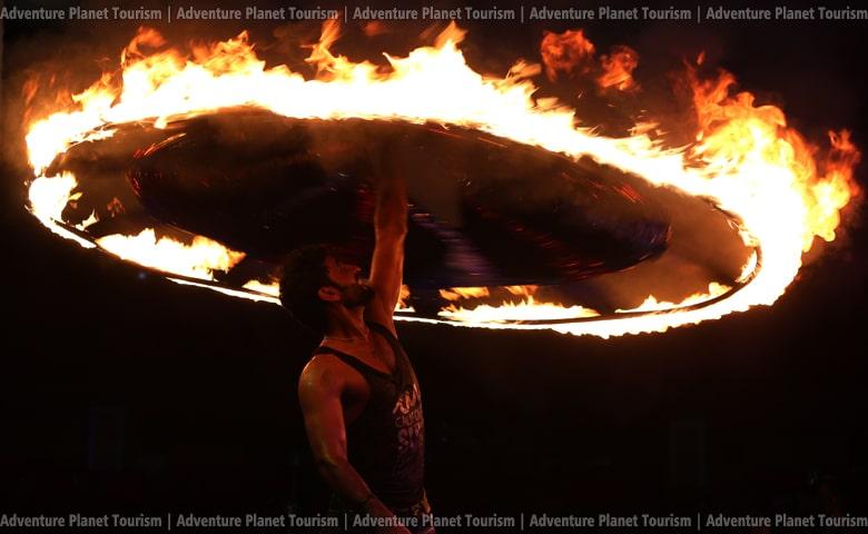 Fire Show At Dubai Desert Safari Tour - Advenutre Planet Tourism